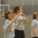 The Lancer Cheer Clinic participants performed their dances at the halftime of this game. Photo by Elizabeth Anderson