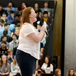 """Junior Haley Lynch sings """"Hello"""" by Adele. Photo by Maddie Smiley"""