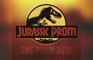 jurassic prom poster