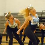 Seniors Isa Tamburini and Annie Smith dance their routine from NDA dance camp. Photo by Caroline Mills
