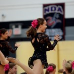 Sophomore Gia Hense performs with the JV Lancer Dancers. Photo by Maddie Smiley