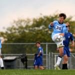 Freshman midfielder, Byers Waldo, settles a pass. Photo by Kaitlyn Stratman
