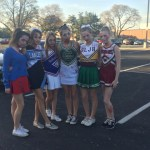Senior Kalin Lamus' family smeared themselves with fake blood as zombie cheerleaders.