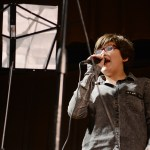 """The lead singer of """"Overland Park School of Rock sings center-stage during her band's performance. Photo by Diana Percy"""