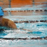 Sophomore Michael Spivak swims 500 Free. Photo by Laini Reynolds