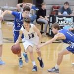 Freshman Hayden Talge makes a break towards the basket. Photo by CJ Manne