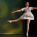 Senior Gretchen Crum performs her turn sequence during her senior solo dance routine. Photo by Lucy Morantz