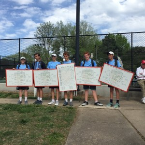 Boys' Tennis Sweeps JV Sunflower League Tournament