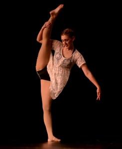Senior Gretchen Crum performs her senior solo dance. Photo by Maddie Smiley