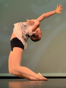 Senior Gretchen Crum performs her dance solo. Photo by Sophie Storbeck