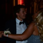 Seniors Will Clough and Ellie Mitchell enjoy dancing at their last prom. Photo by Maya Stratman