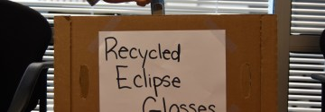 East Donating Unused Eclipse Glasses
