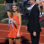 Senior Savanna Worthington was crowned second attendent during halftime. Photo by Izzy Zanone