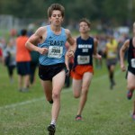 Senior Sean Budzowski attempts to outrun his opponents. Photo by Luke Hoffman