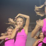 Senior Katie Faught performs the hip-hop style dance during half time. Photo by Ty Browning