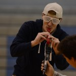 Senior Peyton Watts plays the flute during his performance. Photo by Reilly Moreland