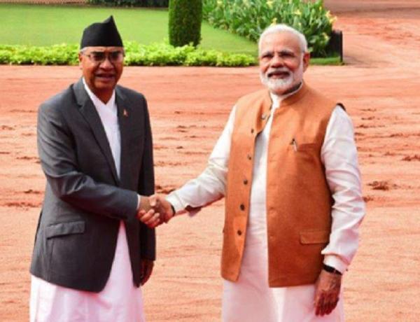 Nepal PM Sher Bahadur Deuba with PM Narendra Modi