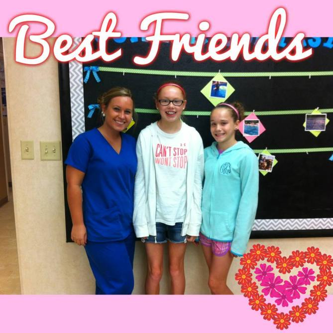 Orthodontic Assistant Melissa with patient and friend