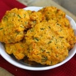 Sweet Potato Drop Biscuits with Chives and Cheddar