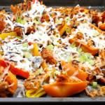 Buffalo Chicken Mini Pepper Nachos