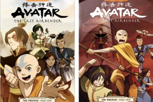 Avatar: The Last Airbender | The Promise (Parts One and Two) created by Bryan Konietzko and Michael Dante DiMartino, script by Gene Luen Yang, art by Gurihiru, lettering by Michael Heisler