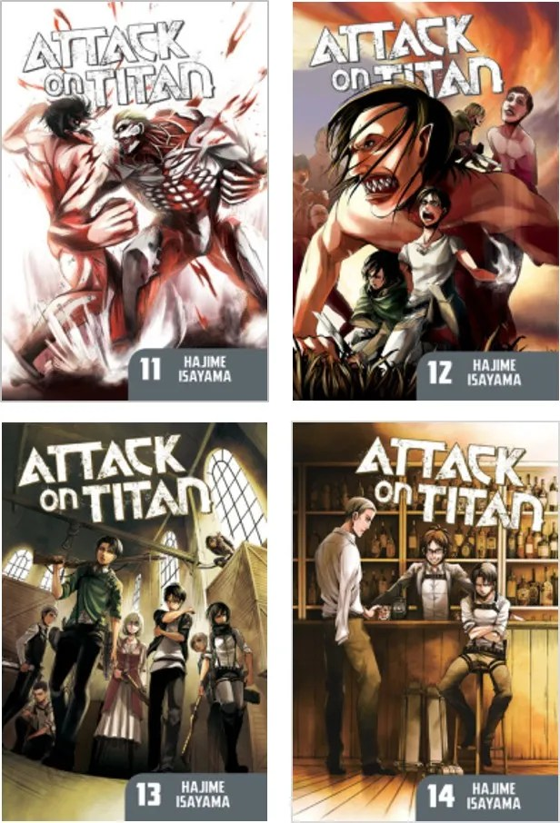 Attack on Titan 11-14