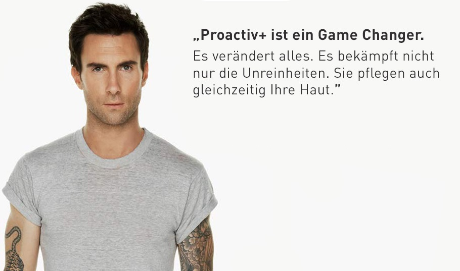 Adam Levine für Proactiv+