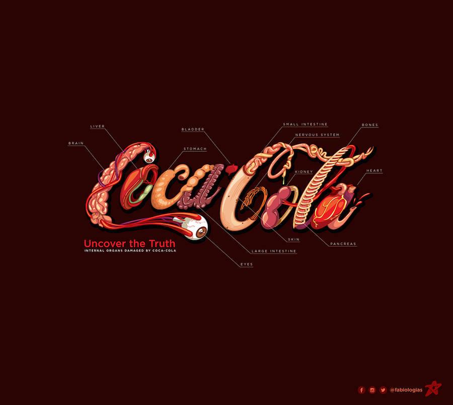Organisches Coca-Cola Logo
