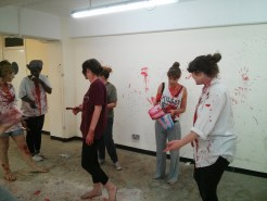 Experiments with paint for blood in Titus Andronicus