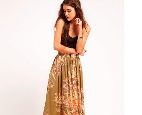 Выбираем красивые длинные юбки