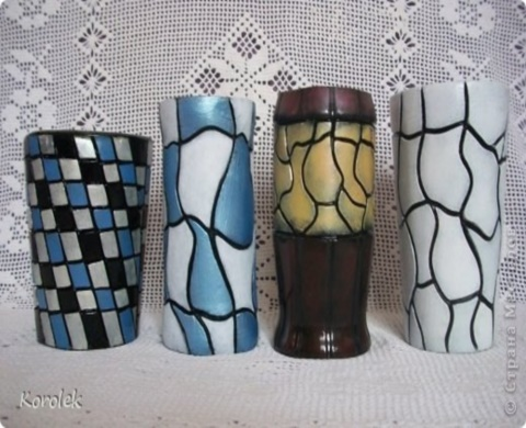 Как сделать вазочки из гипса и пластиковых бутылок