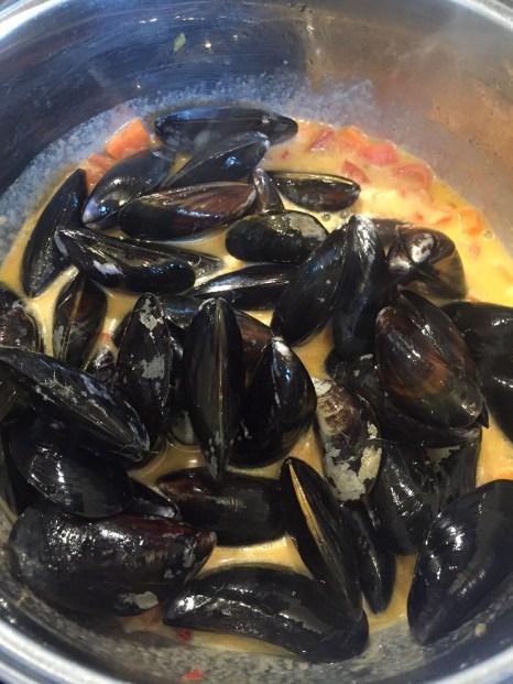 Zubereitung Muschelsuppe
