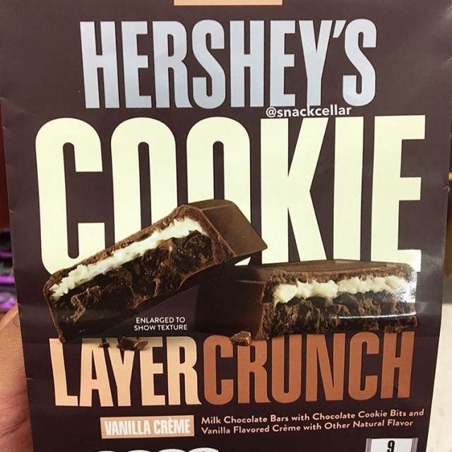 Rounding out the new Hersheys Cookie Layer Crunch bars ishellip