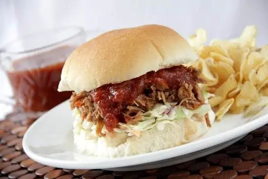 Sweet & Spicy Root Beer BBQ Pork, slow cooker recipe with an easy homemade BBQ sauce | snappygourmet.com