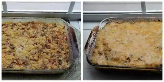 Mexican Sausage & Cornbread Strata (overnight breakfast casserole) | snappygourmet.com