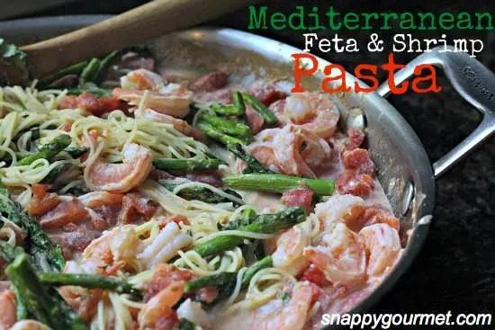 Mediterranean Shrimp & Feta Pasta