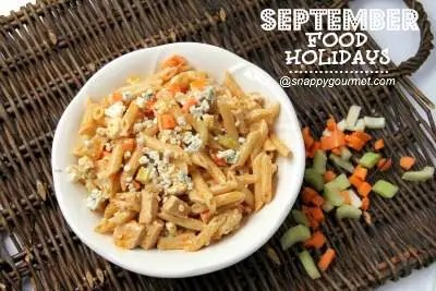 buffalo pasta salad - september food holidays