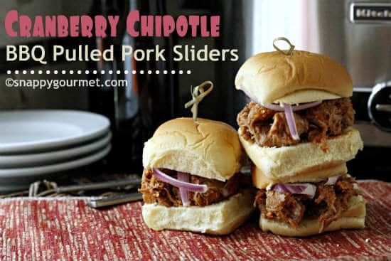 Cranberry Chipotle BBQ Pulled Pork Sliders