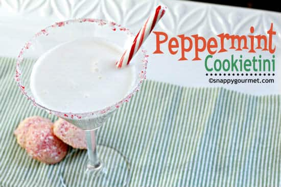 Peppermint Cookietini Cocktail | snappygourmet.com
