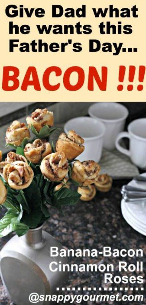 Banana Bacon Cinnamon Roll Roses
