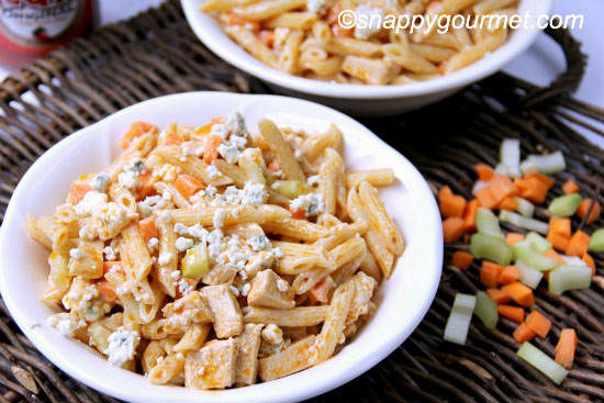 Buffalo Chicken Pasta Salad | Snappy Gourmet