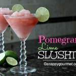 Pomegranate Lime Slushtini Cocktail