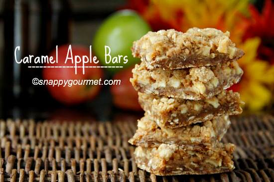 Caramel Apple Bars | snappygourmet.com