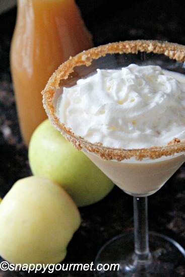 Caramel Apple Cheesecaketini recipe   snappygourmet.com