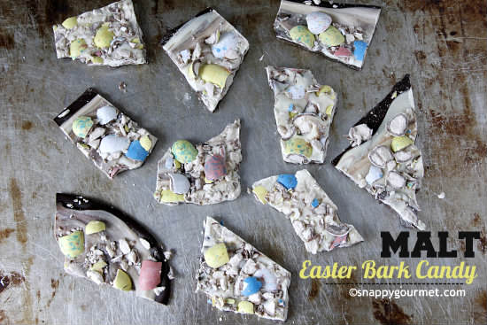 Malt Easter Bark Candy Recipe | snappygourmet.com