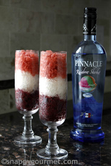 Summer Berry Vodka Granita Recipe   snappygourmet.com
