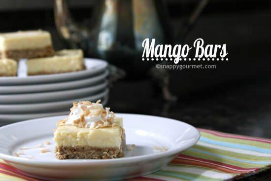 Mango Bars Recipe | snappygourmet.com
