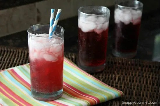 summer sparkling drinks