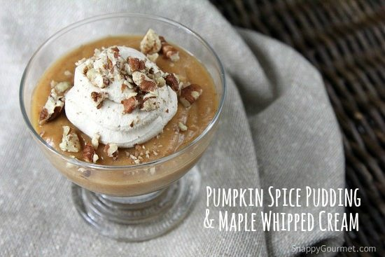 Homemade Pumpkin Spice Pudding with Maple Whipped Cream Recipe