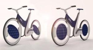 Ecológica, futurista y eléctrica. Así es Ele, una bicicleta que cuenta con paneles solares en las ruedas que giran para aprovechar la máxima energía posible.